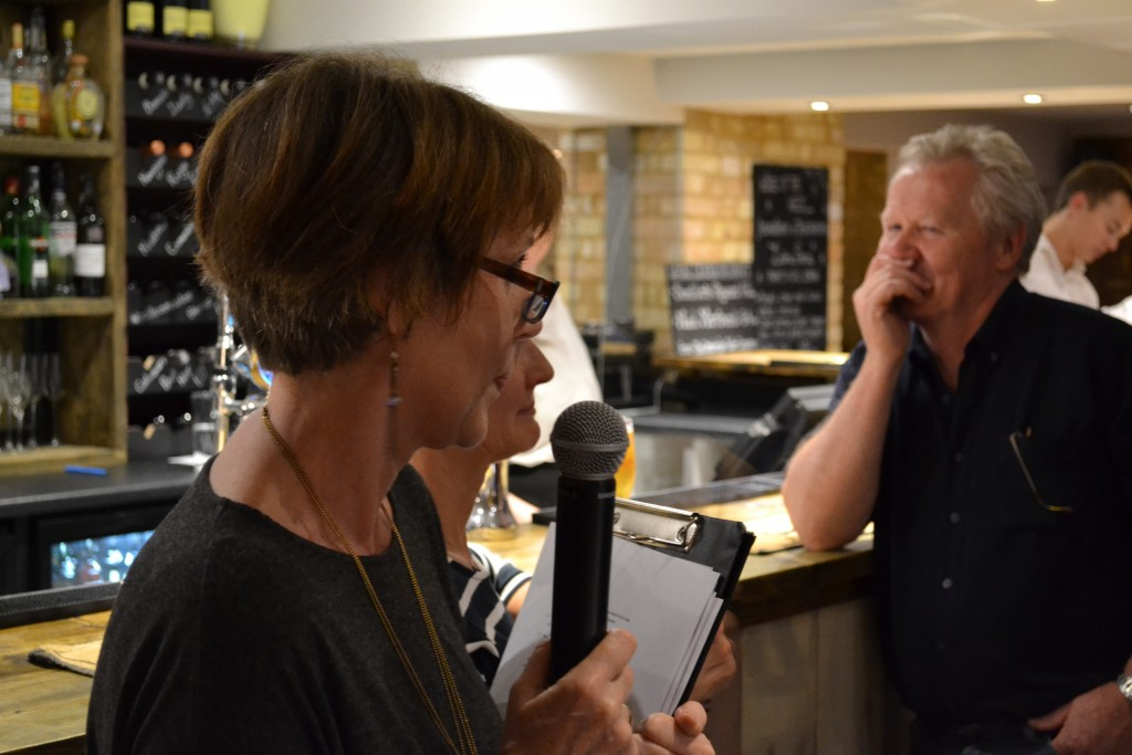 Quizmaster & Event Organiser, Jackie Bullen in action...